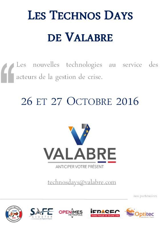 Les Technos Days de Valabre - 26 & 27 Octobre 2016