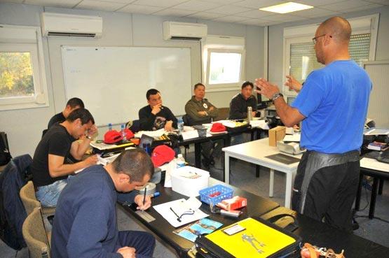Formation sapeurs pompiers de Hong Kong