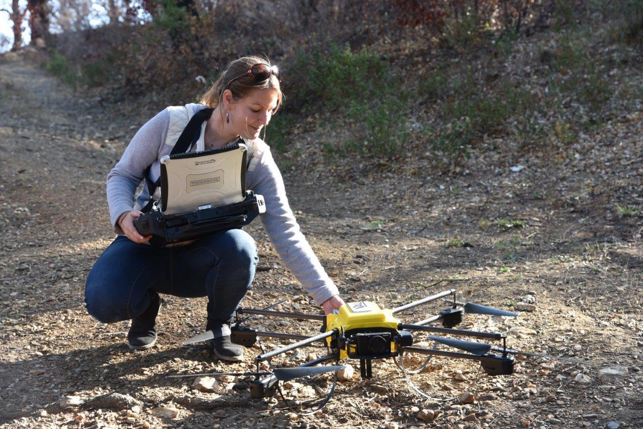 Valabre pilote drone prestation SIG Géomatique