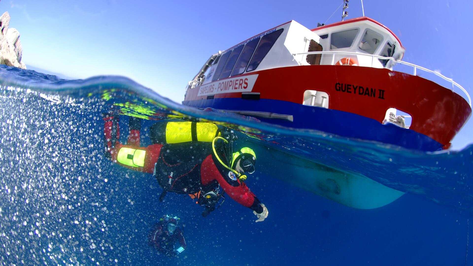 Plongée avec le Geydan II du Centre National de Plongée (CNP) de Valabre
