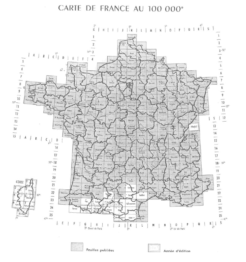 Carroyage DFCI avant 1980