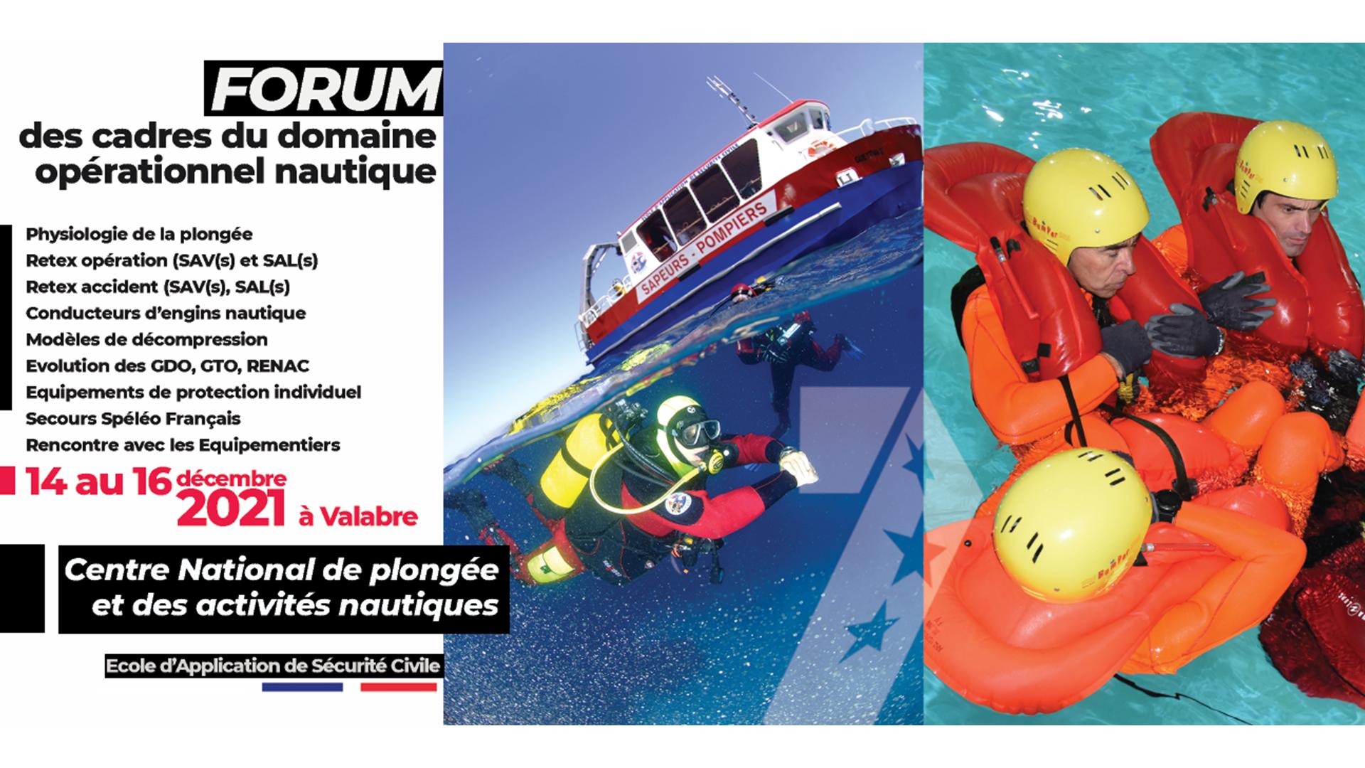 Forum des Cadres du domaine opérationnel nautique